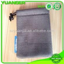 Super quality bottom price nylon mesh zippered bag