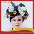 artificial de la moda de gran flor del pelo corona guirnalda