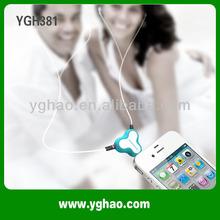 YGH381 Novelties Earphone Headphone Splitter with Suction Cup