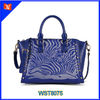 2014 latest top grain genuine leather designer handbag animal print genuine leather handbag single strap shoulder tote bags