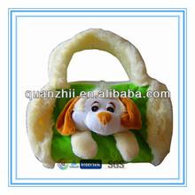 Plush dog shaped bag for children