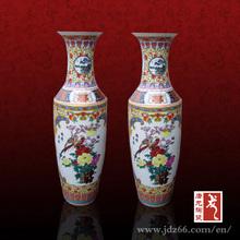 Ceramic Antique Large Chinese Famille Rose Vase