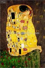 Famous painting reproduction gustav klimt kiss painting