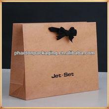 Qingdao factory professional custom cheap shopping gift paper bag for baby garments,watch print cut paper bag kraft paper