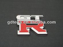 Car Badge with GTR 3D Chrome Car Emblem Car Sticker