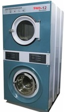 Industiral used laundry stack washer and dryer made in china
