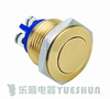 16mm stainless steel push button switch/gold