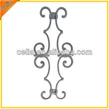 "Beautiful double design aluminum decorative flowers for 5/8"" picket flower"