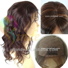 Brazilian hair silk top full lace wigs baby hair