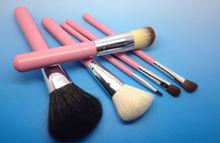 pink 6 pieces make up powder/blush/eye shadow/lip brushes set