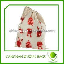 Rational construction calico drawstring bag