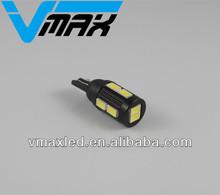 Newest LED bulb 12V/5W 10SMD 5630 T10 socket 194 168 LED car led lamp