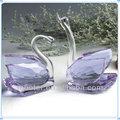 purple par de cristal cisnes para lembrançinhas de casamento presentes de casamento