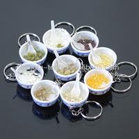 Emulational pendant/Food emulational key chain/Emulational blue and white porcelain bowl key chain
