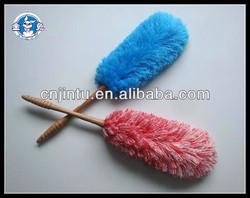Wooden handle microfiber mop duster