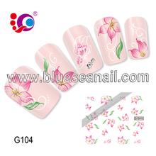 2014 nuevos diseños de moda del arte del clavo etiqueta engomada del clavo accesorios de uñas esmalte de uñas esmalte