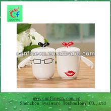 red black white ceramic lover ceramic mug wing