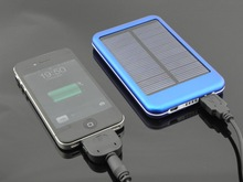 Best usb 5v/1a portable Solar battery phone charger P-6000T for samsung galaxy s3 mobile phone wholesale