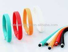 Brand new Soft Bracelet touch pen, wristband stylus pen,silicone pen