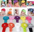 Fancy baby fabric sun flower cheap headband