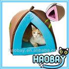 Double Color Plush Pet Bed House