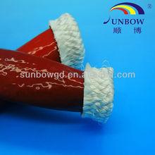 High insulation anti-acid fireproof silicone fiberglass sleeve