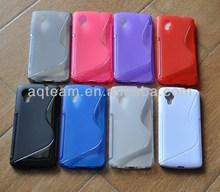 For LG Nexus 5 Hot Selling S Shape TPU Case