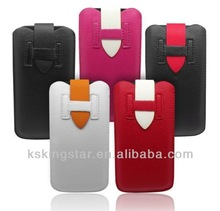 pu leather pouch for iphone case