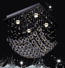 amber crystal chandelier DY1304-4 LED socket 110V/220V rectangular crystal chandelier