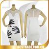 2014 white mesh bandage elegant knee length cocktail dresses