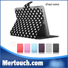 Leather folio stand case for ipad mini smart cover