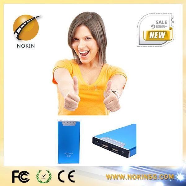 NOKIN 2014 smart design hot sale super thin universal portable polymer power bank 5000 for mobile phone