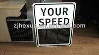 Radar Your Speed Detector Control Warning Solar LED Signs