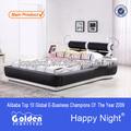 G992 # 2015 alibaba dernières conception lattes de bois cadre de lit avec des lumières led