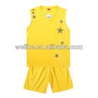 2014 new design basketball uniform yellow basketball t shirt and short wholesale basketball jersey