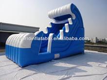 wave shape cool feeling inflatable slides