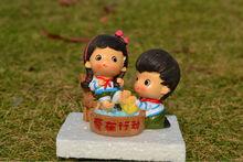 chinese cartoon wedding couple,polyresin wedding couple,wedding couple craft
