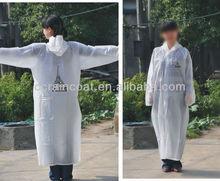 High quality low price PEVA disposable Raincoat