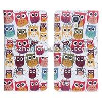 New Cute Owl Flower PU wallet Leather case For Samsung Galaxy Mega 6.3 i9200