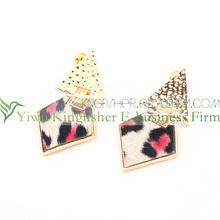 Hot sale fashion women jewelry alloy asymmetric earrings with leopard design!! Fashion design ladies asymmetric earrings bulk!!