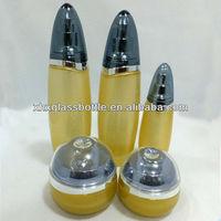 unique wholesale arrow shape glass cosmetic container