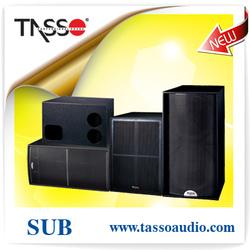 2014 Pro audio pa sub bass, pa sub bass loudspeaker