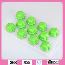 Forma de la manzana de silicona moldes para velas / molde de silicona fácil para la fabricación de la vela
