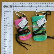 colorful Jacquard silky mobile phone arm bag,mobile phone bag