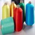 Branco cru/colorido/tingidos industrial 100% fio de poliéster para confecção de malhas de tecido 150d 300d