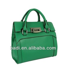 2014 ss green lychee cow leather bags pebbled leather handbag fashion lock bag genuine leather handbag wholesale