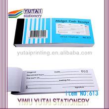 continuous forms sales receipt sample