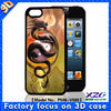 3D silicon animal case phone case for iphone 5/5s