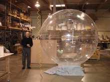 big clear acrylic hollow globe