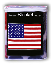 American Flag Polar Fleece Blanket NEW 5'x4.2' Throw Cover United States U.S.A. Blanket